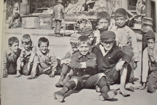 NEW YORK STREET KIDS--Courtesy of Children's Aid Society: The boys of Mulberry Bend in NYC