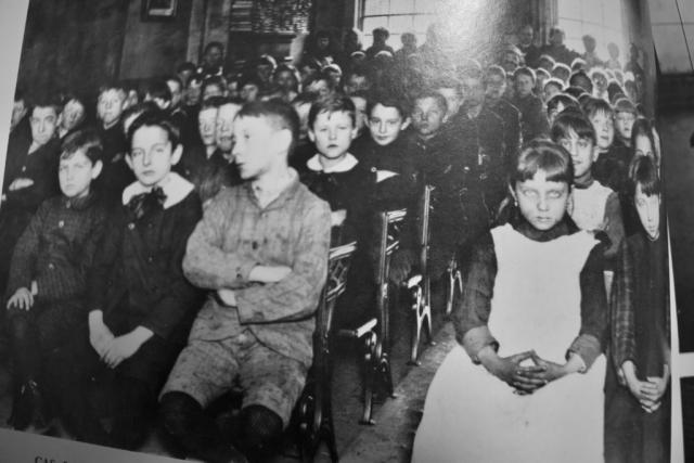 NEW YORK STREET KIDS--Courtesy of Children's Aid Society: The Children's Aid Society under Charles Loring Brace organizes schools for slum children