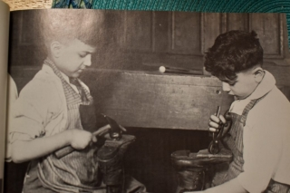 NEW YORK STREET KIDS--Courtesy of Children's Aid Society: Boys in a Cobbling Class started by The Children's Aid Society