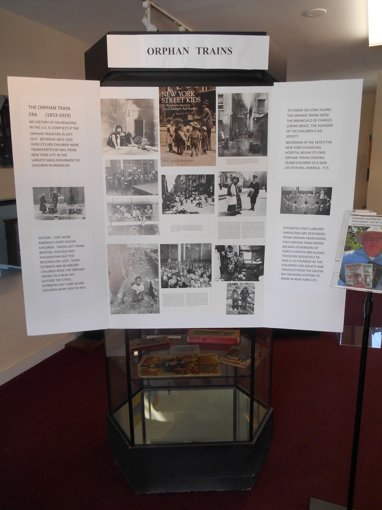 Oyster Bay Orphan Train Display