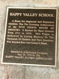 Happy Valley Plaque